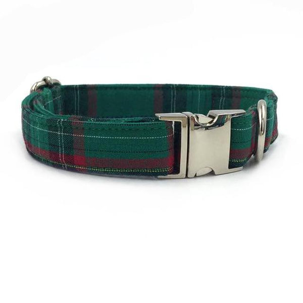 Con Pajarita Dark green Scottish collar / S