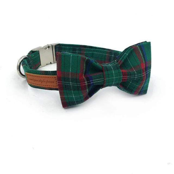 Con Pajarita Dark green Scottish collar y pajarita / S