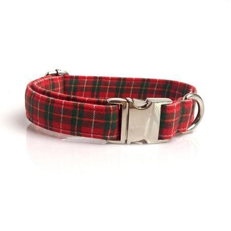 Con Pajarita Red Scottish collar / XS