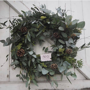 'The Foliage One' - Christmas Wreath - LOCAL DELIVERY