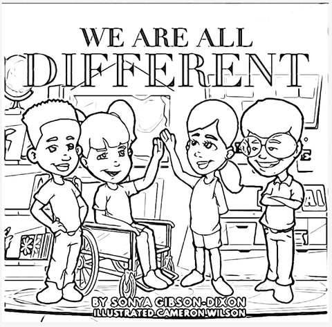 We Are All Different Coloring Book Edition