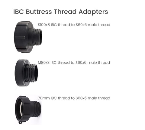IBC thread reducer to S60x6 IBC fitting adapter