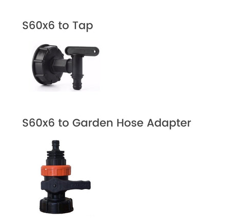 IBC to tap and IBC to garden hose adapters