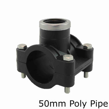 Metric Poly Tapping Saddles Por 50mm Poly Pipe