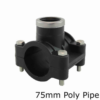Metric Poly Tapping Saddles Por 75mm Poly Pipe
