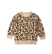Load image into Gallery viewer, Little Gems Leopard Sweatshirt