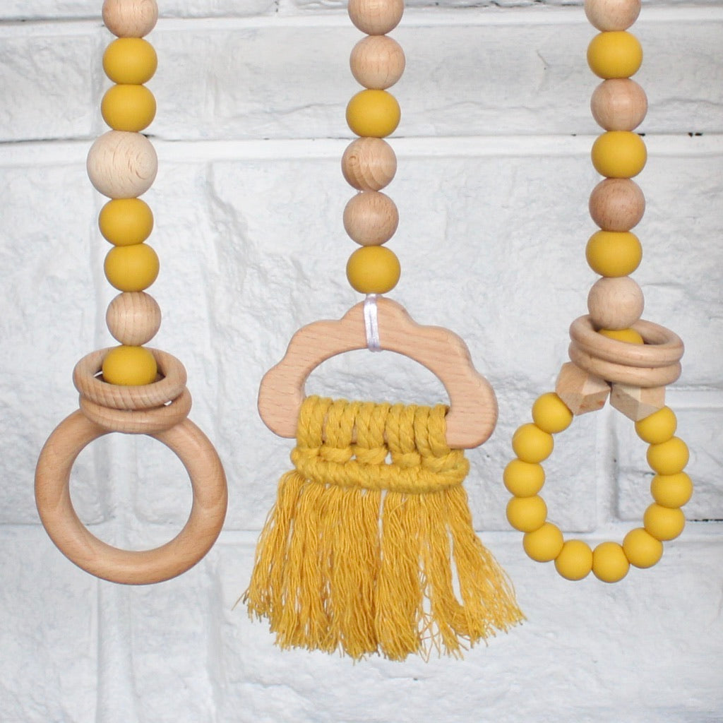 Cloud Play Gym Toys (Mustard)