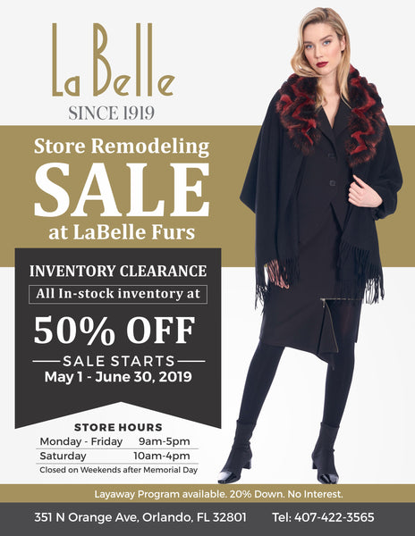June 2019 Store Newsletter - Store Remodel, Sale and Emerging Designer Competition