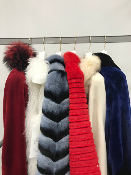 Red, White, and Blue - colorful furs for you!