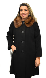 Wool & Sable Coat