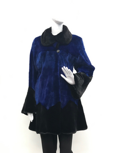Sheared Blue Mink and Black Beaver Jacket