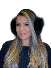 Load image into Gallery viewer, Black Fox earmuffs