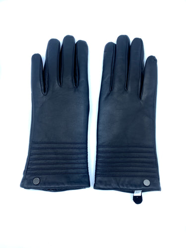 Leather Gloves w/ Ribbed Top