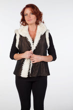 Load image into Gallery viewer, White Sheared Beaver Reversible Vest