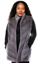 Load image into Gallery viewer, Lavender Mink Chevron Vest