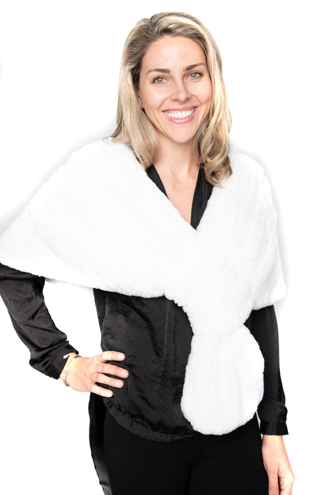 White Rexx Knitted Stole