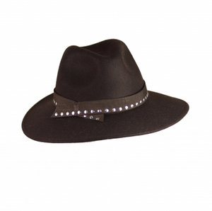 Marzi Brown Wool Fedora