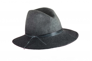 Marzi Grey Wool Fedora