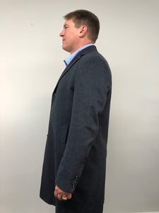 Side - Cashmere Coat Indigo