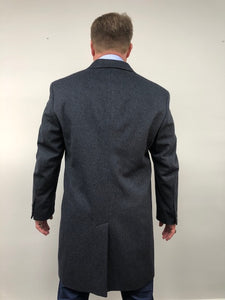 Back - Cashmere Coat Indigo