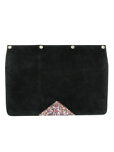 Load image into Gallery viewer, Interchangeable Flaps for Black Sweetchy Leather Handbag - Black/Glitter