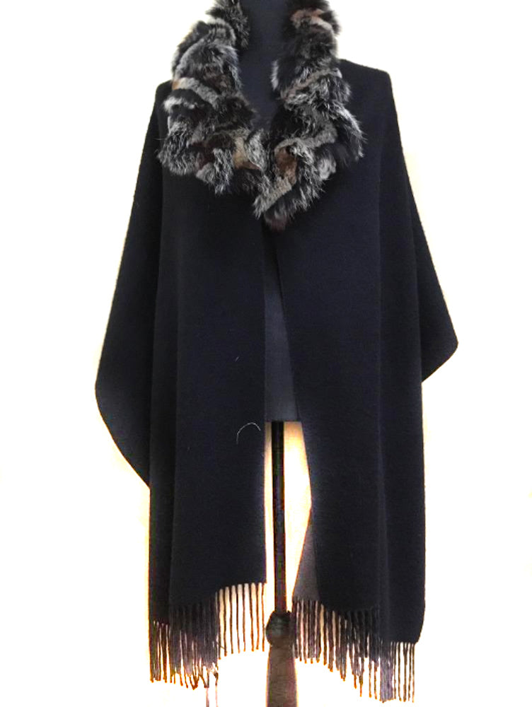 Black and Brown Double Face Scarf