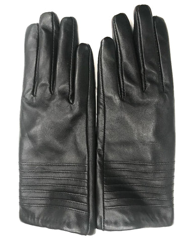 Black Gloves w/ Lines Across Top