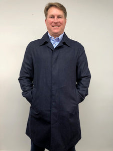 Front - Car Coat Wool Blue