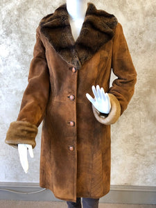 Rust Shearling Jacket