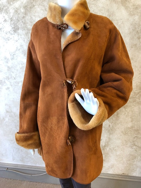 Button front Shearling Jacket