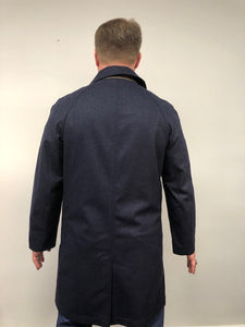 Back - Car Coat Wool Blue