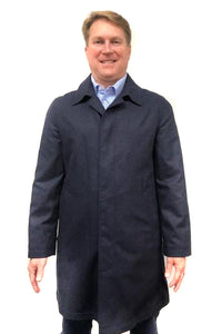 Car Coat Wool Blue