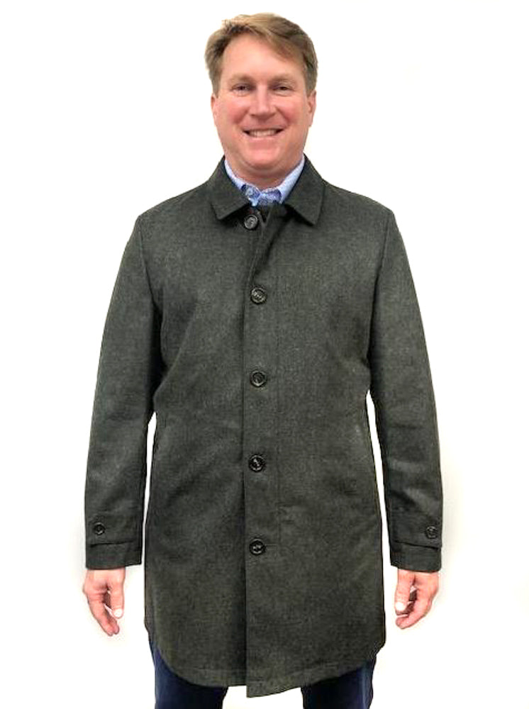 Car Coat Wool/Cashmere-Green