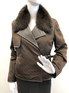 Fox/Rex/Poplin Jacket with Removable Collar