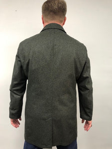 Back - Car Coat Wool/Cashmere-Green