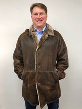 Load image into Gallery viewer, Front - Shearling Jacket- Brown