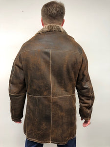 Back - Shearling Jacket- Brown