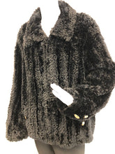 Load image into Gallery viewer, Black Paula-Knit Sheared Beaver Jacket