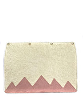Load image into Gallery viewer, Interchangeable Flaps for Black Sweetchy Leather Handbag - Gold/Pink