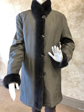 Load image into Gallery viewer, Reversible Sheared Mink & Silk Taffeta Jacket