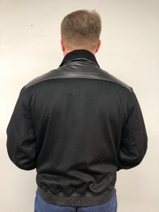 Back - Cashmere/Nutria/Leather Jacket-Black