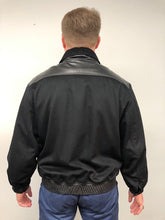 Load image into Gallery viewer, Back - Cashmere/Nutria/Leather Jacket-Black