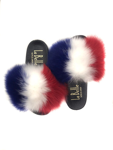 Red/White/Blue Fox Slippers