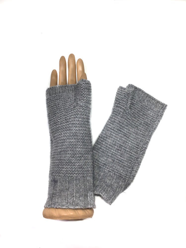 Light Grey 100% Cashmere Half Glove