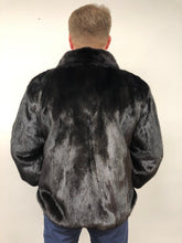 Load image into Gallery viewer, Reverse Back - Mink/Leather Reversible Jacket