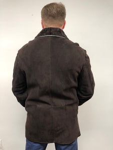 Back - Shearling Coat -Brown