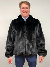 Load image into Gallery viewer, Reverse Front - Mink/Leather Reversible Jacket