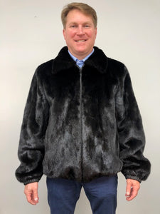Reverse Front - Mink/Leather Reversible Jacket