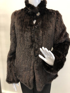 Mahogany Mink Knit Jacket
