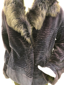 Purple Sheared Grooved Beaver Jacket